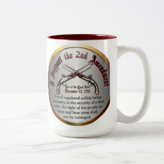 I Support the Second Amendment Two-Tone Coffee Mug