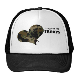 I support the troops trucker hats