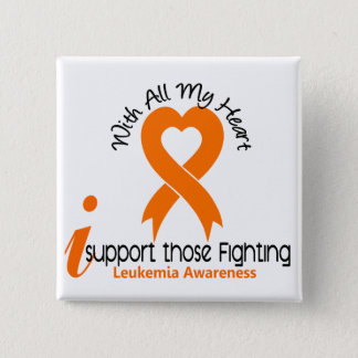 I Support Those Fighting Leukemia 15 Cm Square Badge