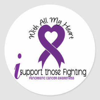 I Support Those Fighting Pancreatic Cancer Classic Round Sticker