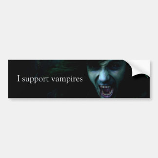 """I Support Vampires"" bumper sticker"
