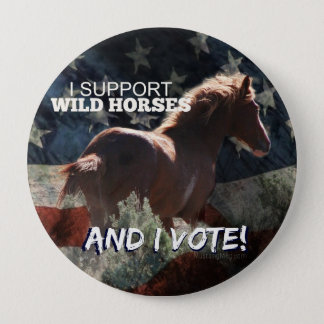 I SUPPORT WILD HORSES Vote Button
