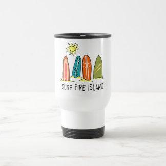 I Surf Fire Island Travel Mug