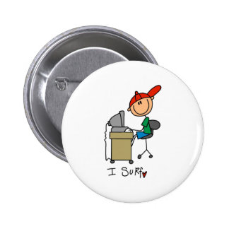 I Surf the Web 6 Cm Round Badge