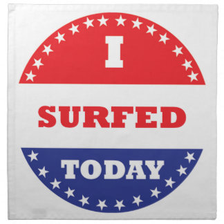 I Surfed Today Napkin