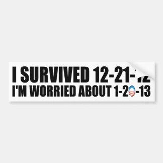 I Survived 12-21-12 - Anti Obama Bumper Sticker