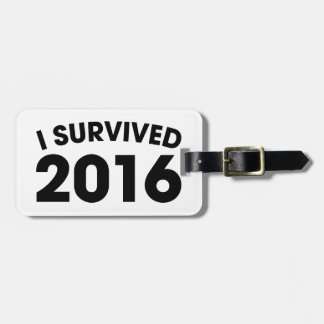 I Survived 2016 Luggage Tag