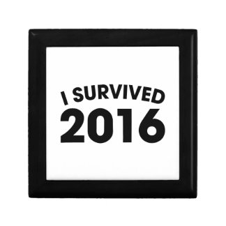 I Survived 2016 Small Square Gift Box