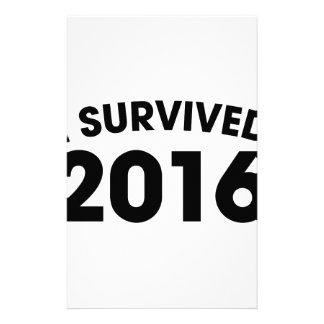 I Survived 2016 Stationery
