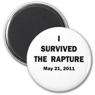 I Survived 6 Cm Round Magnet