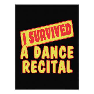 I SURVIVED A DANCE RECITAL CUSTOM ANNOUNCEMENT