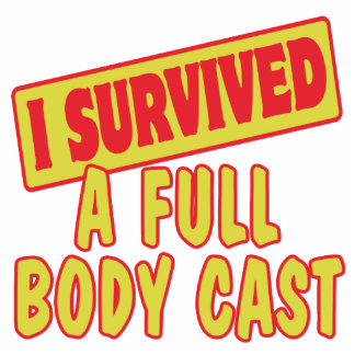 I SURVIVED A FULL BODY CAST PHOTO SCULPTURE