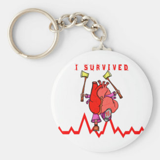I survived a heart attack key ring