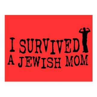 I Survived a Jewish mom - Jew humor Postcard