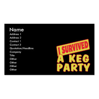 I SURVIVED A KEG PARTY BUSINESS CARDS