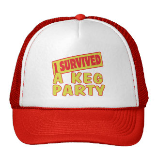 I SURVIVED A KEG PARTY TRUCKER HAT