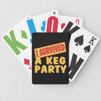 I SURVIVED A KEG PARTY POKER CARDS