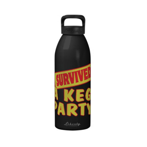 I SURVIVED A KEG PARTY WATER BOTTLES