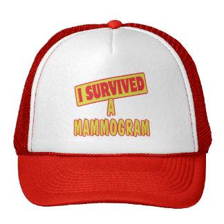 I SURVIVED A MAMMOGRAM HAT