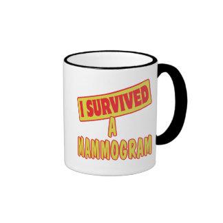 I SURVIVED A MAMMOGRAM RINGER MUG
