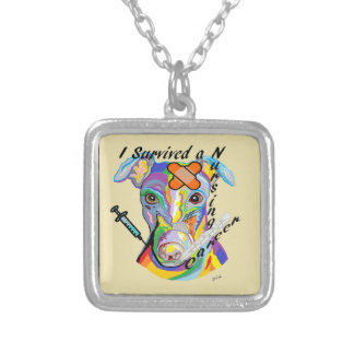 I Survived a Nursing Career Silver Plated Necklace