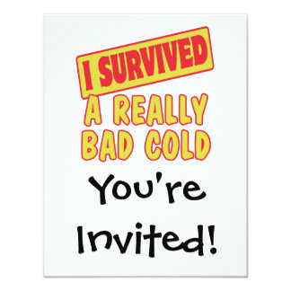 I SURVIVED A REALLY BAD COLD CARD