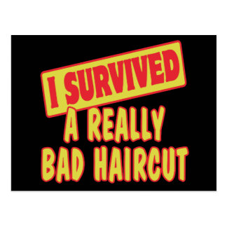 I SURVIVED A REALLY BAD HAIRCUT POSTCARD