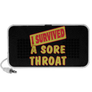I SURVIVED A SORE THROAT iPhone SPEAKER