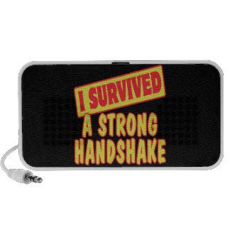 I SURVIVED A STRONG HANDSKAKE PORTABLE SPEAKERS