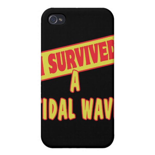 I SURVIVED A TIDAL WAVE CASE FOR iPhone 4