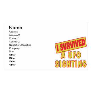 I SURVIVED A UFO SIGHTING BUSINESS CARD TEMPLATE