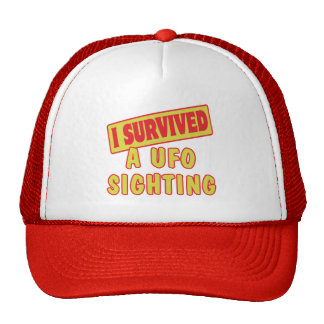I SURVIVED A UFO SIGHTING TRUCKER HATS