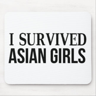 I Survived Asian Girls Mouse Pad