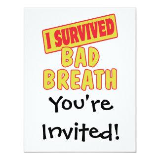 I SURVIVED BAD BREATH CARD
