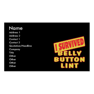 I SURVIVED BELLY BUTTON LINT BUSINESS CARD TEMPLATES