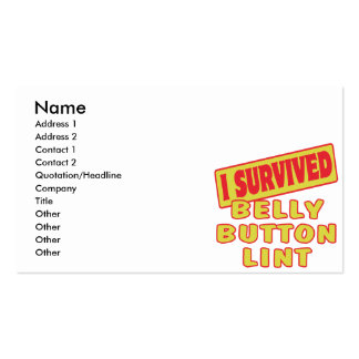 I SURVIVED BELLY BUTTON LINT BUSINESS CARD TEMPLATE