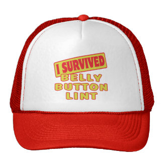 I SURVIVED BELLY BUTTON LINT HATS