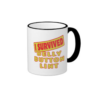 I SURVIVED BELLY BUTTON LINT MUGS