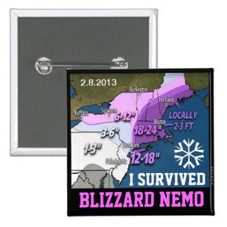 I Survived Blizzard Nemo 2013 Button 1