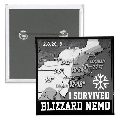 I Survived Blizzard Nemo 2013 Button 2