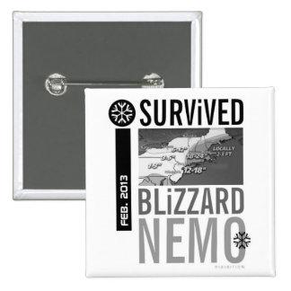 I Survived Blizzard Nemo Button 10