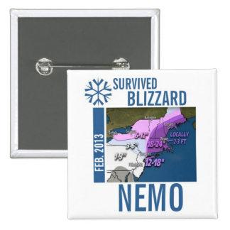 I Survived Blizzard Nemo Button 9