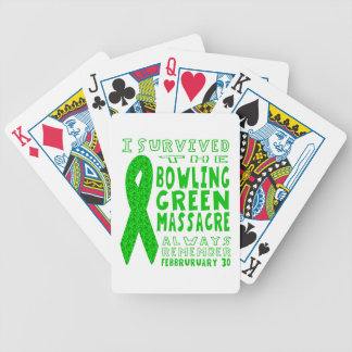 I Survived Bowling Green Massacre Bicycle Playing Cards