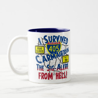 I Survived Carmageddon - Interstate 405 Two-Tone Coffee Mug