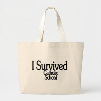 I Survived Catholic School Jumbo Tote Bag
