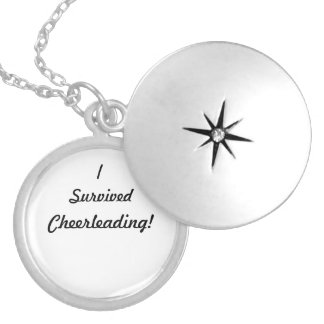 I survived Cheerleading! Silver Plated Necklace