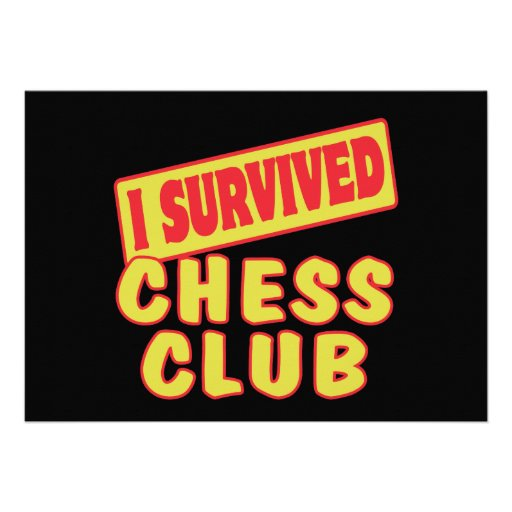 I SURVIVED CHESS CLUB CARD