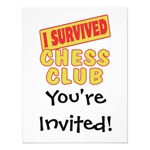 I SURVIVED CHESS CLUB PERSONALIZED ANNOUNCEMENT