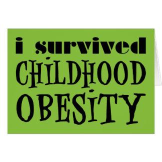 I Survived Childhood Obesity Card