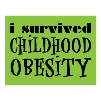 I Survived Childhood Obesity Postcard